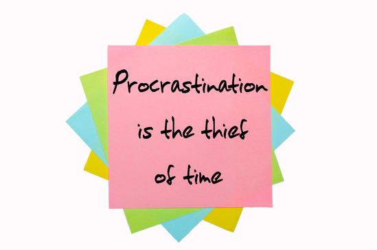 Procrastination Definitions